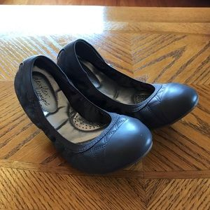 Gray flats from Payless
